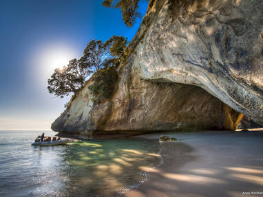 Ad318 cathedral cove coromandel legend photography