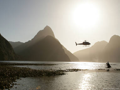 Ne ad274 milford sound fiordland glacier southern lakes helicopters