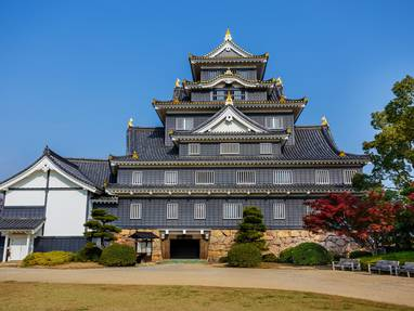 Okayama castle   front view